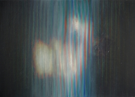 Hit, 56 42 cm, 1999, oil on canvas.