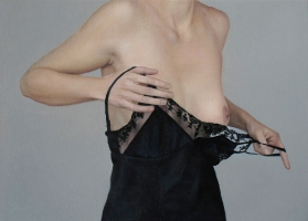 Undressing, 40-55 cm, 2013 oil on canvas.