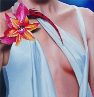 Bust with flower, 41-42-cm, 2005, oil on canvas.
